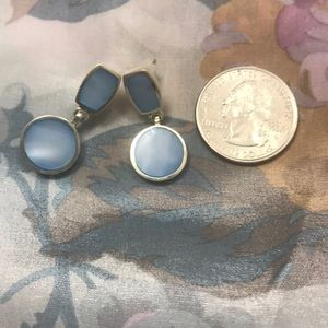 Sterling Silver Blue Earrings (925)